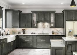 grey kitchen cabinets and black countertops grey kitchen cabinets the rta store