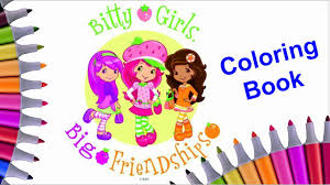 strawberry shortcake coloring book compilation coloring strawberry
