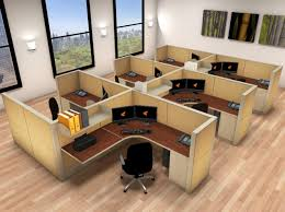 furniture 6x6 cubicle workstations matrix modular 6 pack cluster