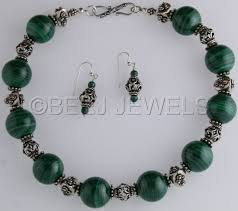 large silver bead necklace images Jewelry quot green malachite with large ornate bali silver bead jpg