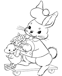 easter bunny coloring pages bluebonkers scooter bunny
