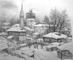 graphics drawings in pencil vitaliy gubarev
