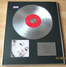 carey cd platinum disc box