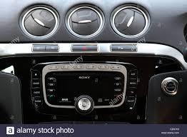 galaxy car a sony car audio system in a ford galaxy car stock photo royalty