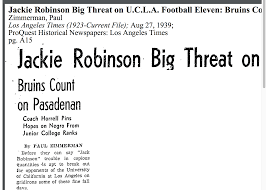 how the la times reported on ucla athlete jackie robinson in 1939