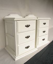 shabby chic 3 drawer bedside tables in distressed cream u0026 gold
