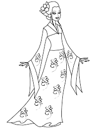 kimono japan coloring pages u0026 coloring book