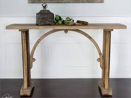 console table design enchanting solid wood narrow console table with arch stretcher