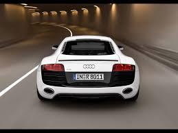 white audi r8 wallpaper 2009 audi r8 5 2 fsi quattro white rear speed 1920x1440