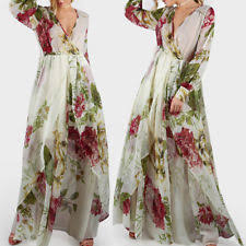 cocktail long sleeve floral maxi dresses for women ebay