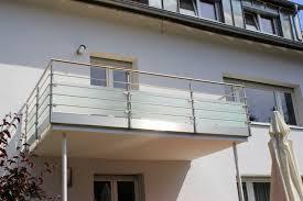 edelstahl balkon mit glas balkonart dan egon popa gbr metallbau balkongeländer