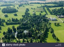 diana burial althorp house aerial view of the oval lake where princess diana is