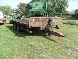4776 chieftain 20ft low loader trailer tandem axle on springs