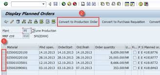 sap production order table order in sap co01 md16 co02 co15