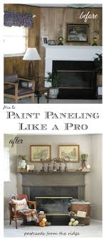 painting paneling in basement tutorial how to paint paneling like a pro postcards from the ridge