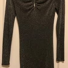 ted baker nwot knot front sparkly dress on tradesy