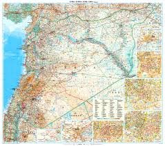 Syria Map by Syria Wall Map Africa Countries Africa Wall Maps