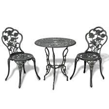 Vintage Bistro Table Details About Vintage Bistro Set Outdoor Garden Patio Luxurious