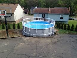 Backyard Pool Fence Ideas Safety Fence Added To Intex Ultra Frame With A Little Tweaking