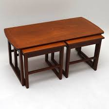 retro teak nesting coffee table vintage 1960 u0027s retrospective