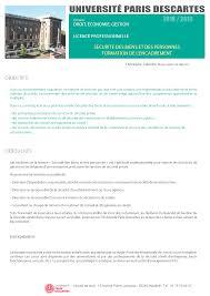 bureau d ordre et d emploi licences professionnelles études et formation droit faculte