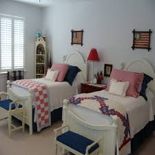 red and white girls bedroom storage ideas for small bedrooms