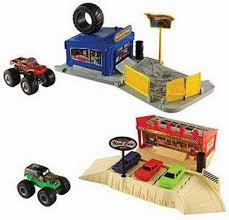 large grave digger monster truck toy wheels monster jam ultimate crush playset 4 trucks large 2