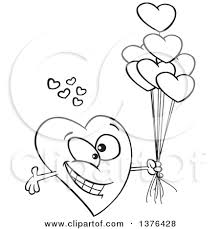and white clipart love cartoon