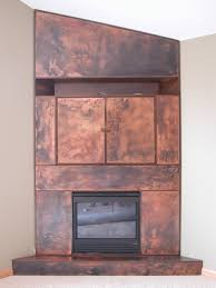 patinated copper u0026 patinated steel fireplace hearth surround