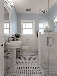 Bathroom With Black Walls Creative Black And White Bathroom Tiles In A Small Bathroom With