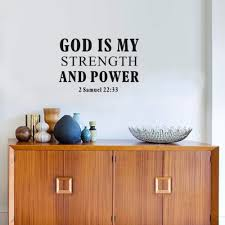 online buy wholesale power decal from china power decal christian quotes wall stickers god is my strength and power vinyl art calligraphy decals home decor