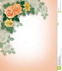 wedding invitation background free download wedding invitation roses peach stock photography image 6504792