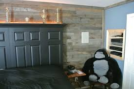 accent wall made from distressed pallet wood hometalk
