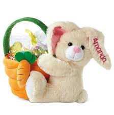 plush easter baskets plush easter bunny with basket easter baskets for kids
