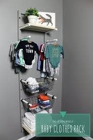 diy storage ideas for clothes baby clothes rack storage diy for nursery organize baby clothes