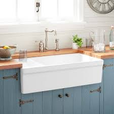how to install an apron sink in an existing cabinet 36 gallo fireclay farmhouse sink with drainboard white