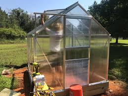 Greenhouse 6x8 Assembling The Harbor Freight 6x8 Greenhouse U2014 Steemit