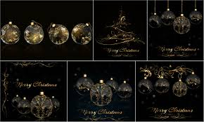 black christmas cards black cards christmas backgrounds with golden ornaments