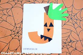 jack o lantern kid craft idea w free printable template glued to