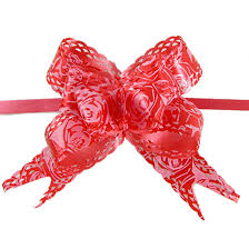 christmas gift bow print christmas decoration gift wrap pull bow ribbon 10