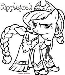 applejack pony friendship magic coloring pages