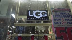 ugg boots sale manhattan york dec 25 2015 ugg australia sign on in store