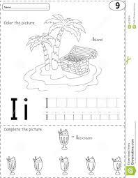 Free Alphabet Tracing Worksheets Cartoon Ice Cream And Island Alphabet Tracing Worksheet Writin