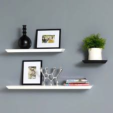 White Floating Wall Shelves Interior Design - Home interior shelves