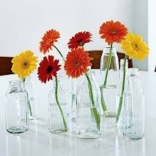 Simple Table Decorations Simple Table Decorations Jars Clear Or Amber With 1 Flower Party