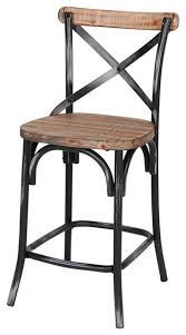 iron and reclaimed pine counter stool black rustic bar stools
