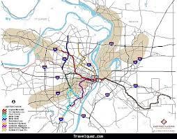 stl metro map st louis metro map travel map travelquaz com