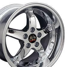 Black Chrome Wheels Mustang Ford Mustang Cobra R Style Replica Wheel Chrome 17x10 5