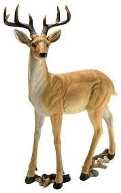 woodland buck deer statue rustic garden statues and yard