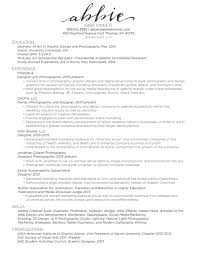 Photography Assistant Resume Resume U2014 Abbie Kinnett